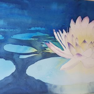 Watercolour lillies by Amie Dupuy